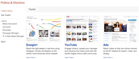 Google politics elections Toolkit