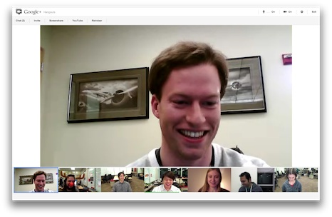 Google+ hangouts after UI makeover