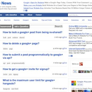 Google+ Question Answers / Forums section added!