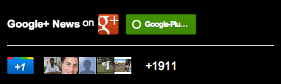Google+ badge 400px dark theme