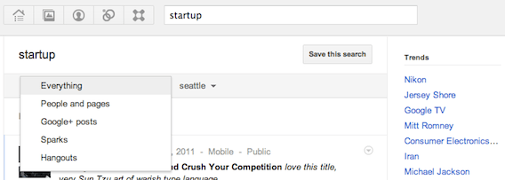 Search for public hangouts in Google+