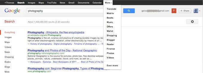 Google+ Menu Dropped and New Revamped Google+ Black Bar Is Back!