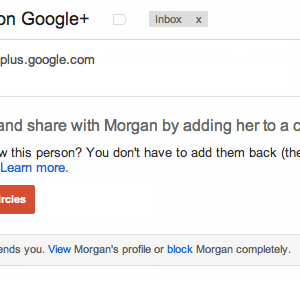 Gmail notification message when someone adds you