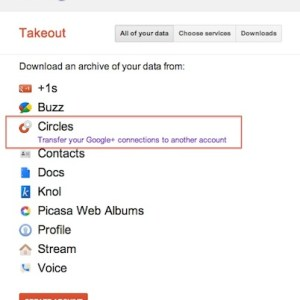 Google+ account transfer to another google+ profile