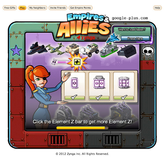 Launch screen for zynga game