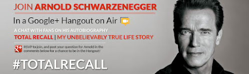 Hangout With Arnold Schwarzenegger on October 5th via Hangout on Air!