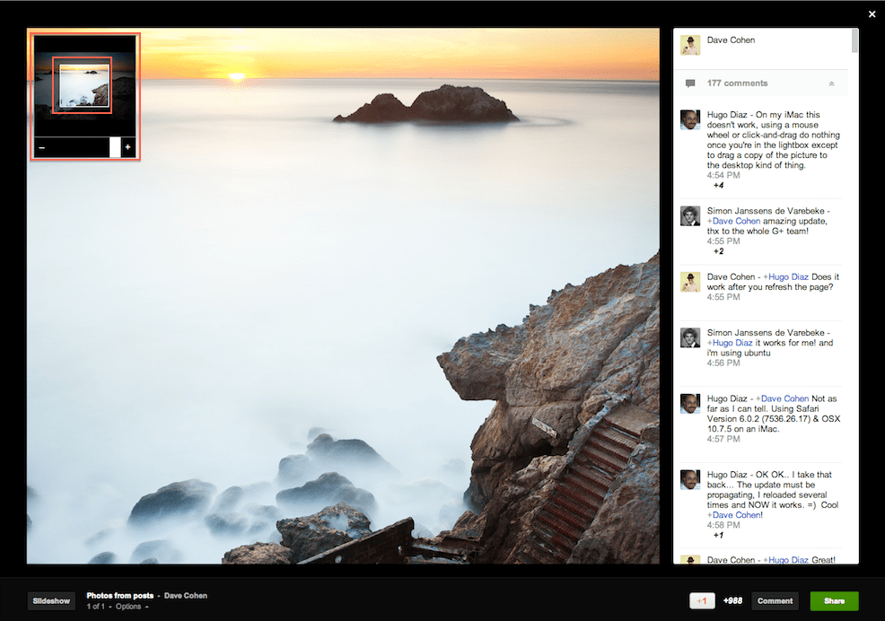 Google+ Lightbox Offers Pan and Zoom Feature on Desktops!