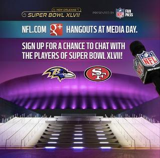 Super Bowl XLVII google+ hangout