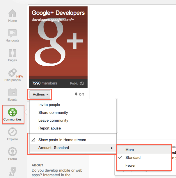 How to Hide or Customize Google+ Communities Post's That Appear in Your Home Stream?