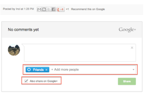 blogspot commenting powered by google+