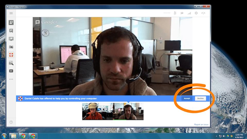 remote desktop hangouts app