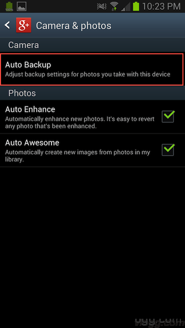 How to Disable Google+ Auto Backup of Photos and Videos in Android?
