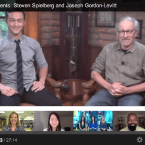 steven spielberg hangout video about lincoln movie trailer
