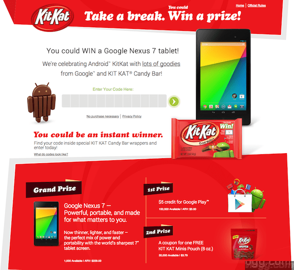 How to Play Android KitKat Contest?