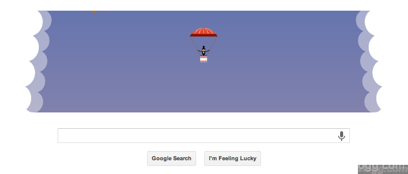 Checkout Google Parachute Jump Doodle Today!