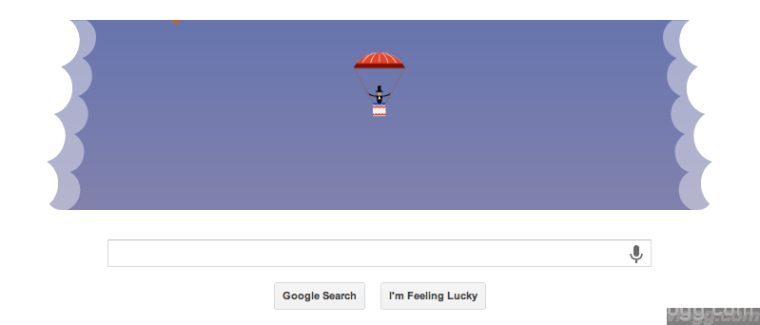 Google Parachute Doodle Today in U.S