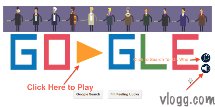 Dr. Who Google Doodle honoring anniversary of British TV Series