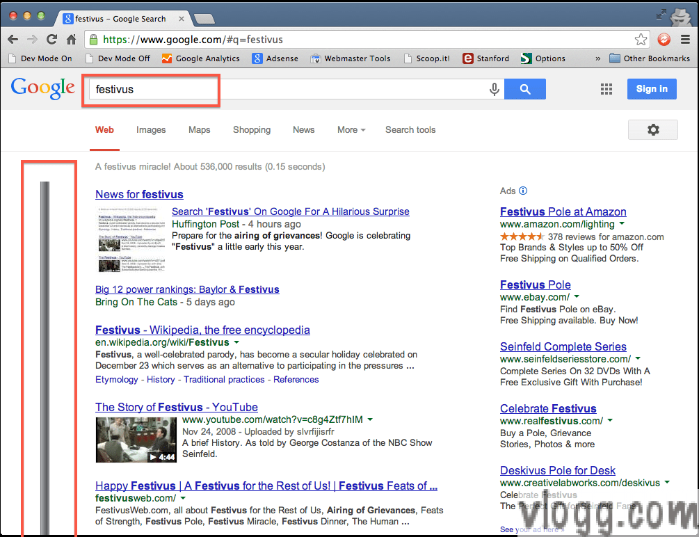 Google Search Festivus Pole Easter Egg Arrives Early