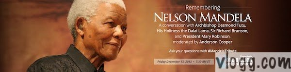 Digital Eulogy for Nelson Mandela via Google+ Hangouts Tomorrow by Dalai Lama and Others