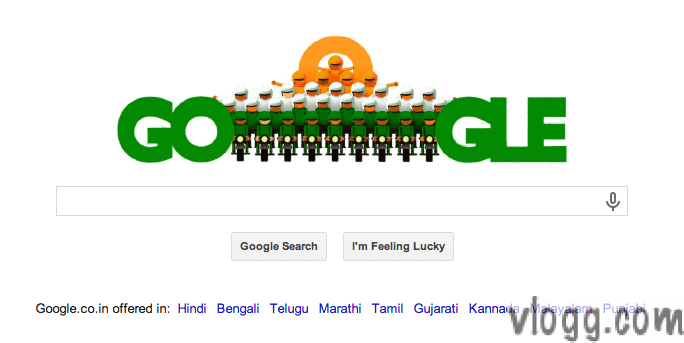 Google Doodle honoring 65th Republic Day of India [images: vlogg.com]
