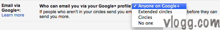 Gmail setting to control Google+ contacts [images: gmail blog]