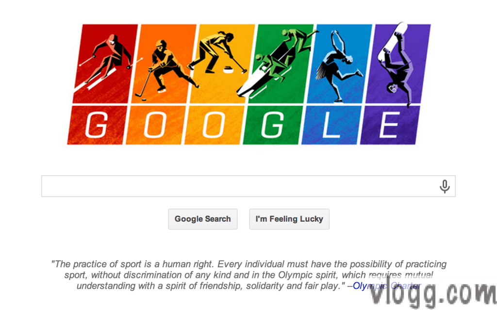 Olympic Charter Google Doodle Today Honors Sochi Olympics 2014!