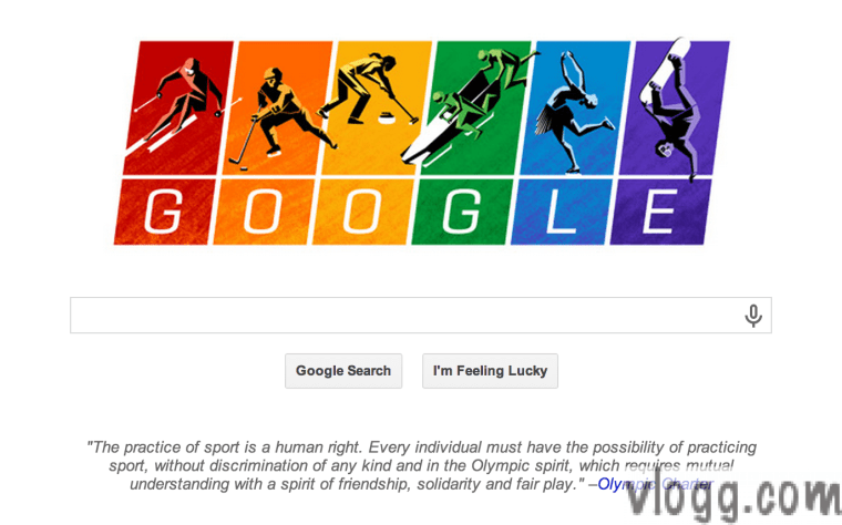 Google Doodle today honors 2014 Sochi Olympics Charter