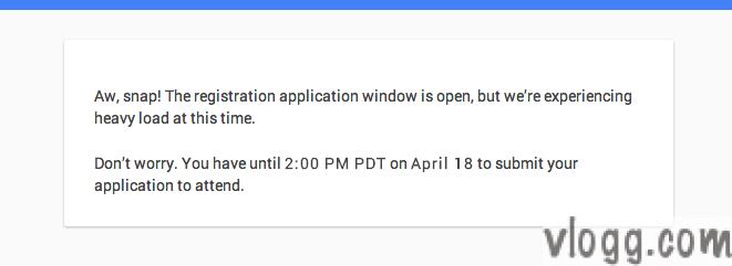 Google I/O 2014 Registration Page Overloaded