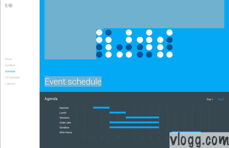 Google I/O 2014 Agenda Event Calendar