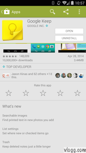Google Keep Android 2.2.11 Released on Play Store