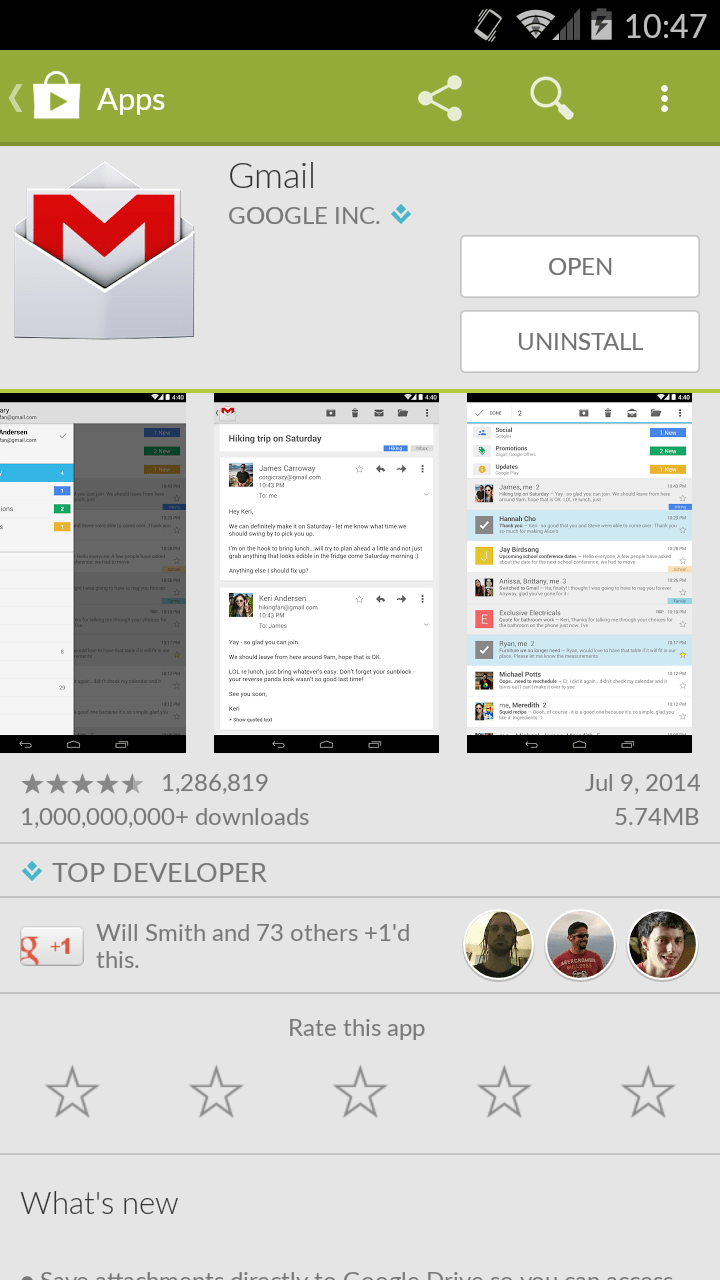 GMail Android App version 4.9 released