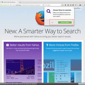 Firefox 34.0 Yahoo Search Update