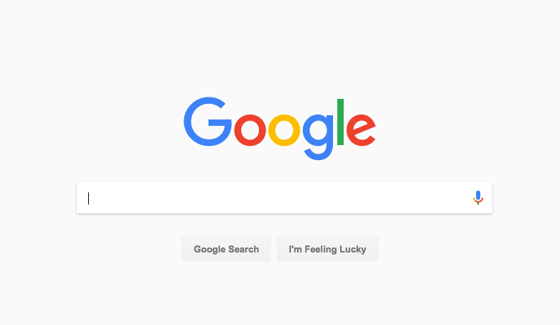 Google Search Home Page with New Design