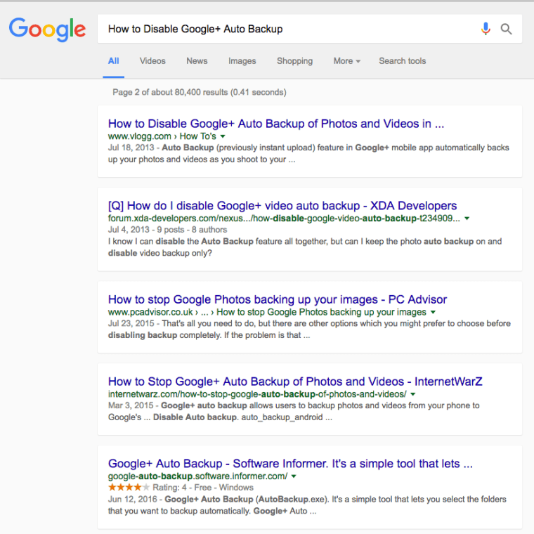 GoogleSearch Results with Cards Layout [2nd Page]