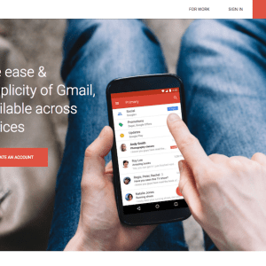 New Gmail Material Design LandingPage