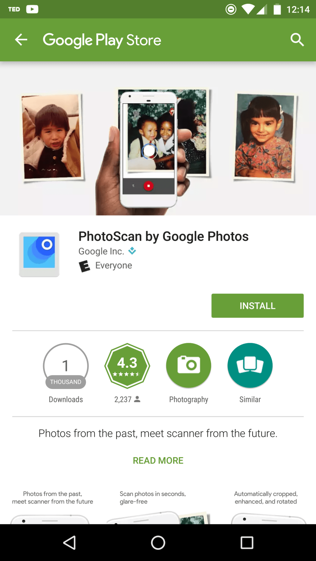 Google Launches PhotoScan Android App : Scanner From the Future