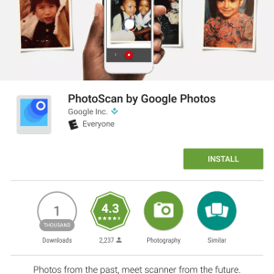 Google PhotoScan Android App