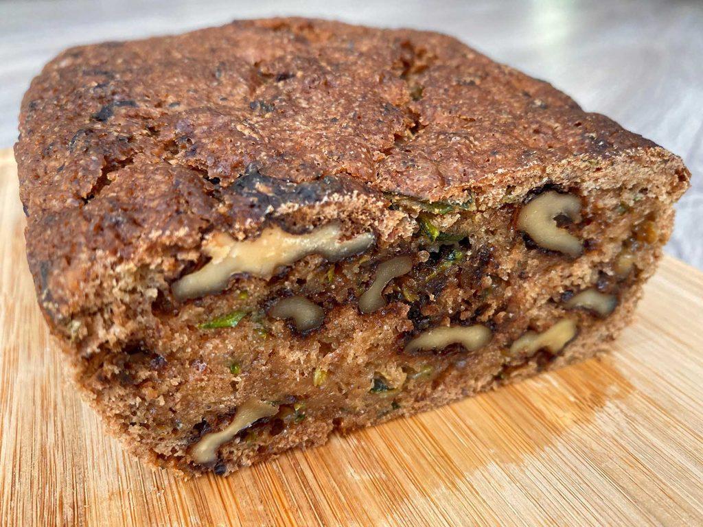 sugarfree vegan zucchini bread recipe  crunchy daddy