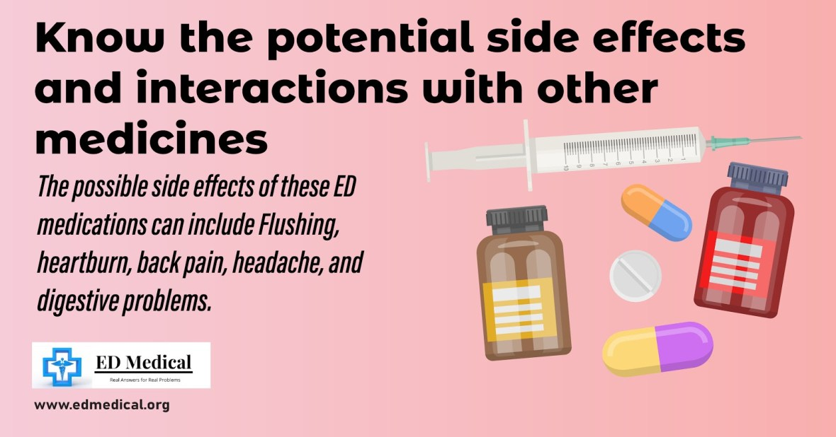 Know the potential side effects and interactions with other medicines