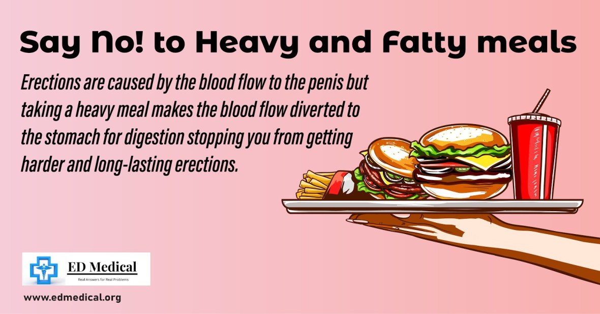 Say no to heavy fatty meals