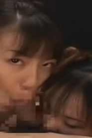 Cock sucking Asian girls getting humped in group session