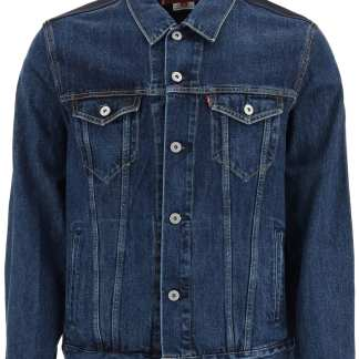 JUNYA WATANABE PANEL DENIM JACKET M Blue, Green, Grey Cotton, Wool
