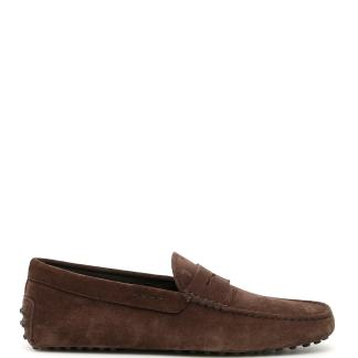 TOD'S SUEDE GOMMINO LOAFERS 6 Brown Leather