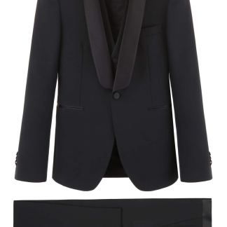 TAGLIATORE THREE-PIECE TUXEDO 46 Black Wool