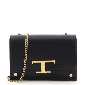 TOD'S RITRATTO ZOE BABY BAG OS Black Leather