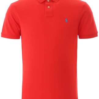 POLO RALPH LAUREN SLIM FIT POLO SHIRT S Red Cotton