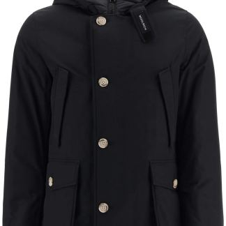 WOOLRICH ARTIC HOODED PARKA S Black Technical, Cotton