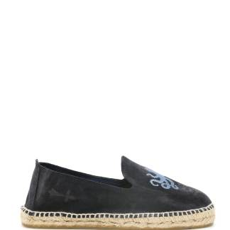 MANEBI PALM SPRINGS SUEDE ESPADRILLES 39 Blue Leather