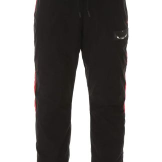 MARCELO BURLON WINGS PATCH JOGGERS S Metallic, Red Technical