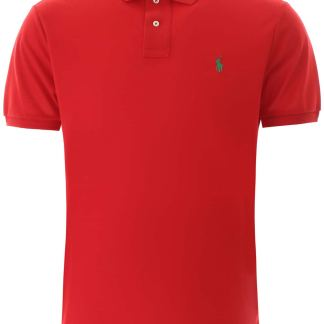 POLO RALPH LAUREN CLASSIC POLO SHIRT S Red Cotton